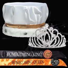 King and Queen Homecoming Set - Zahara Tiara/Satin Crown