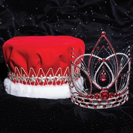 Majestic Tiara and Crown Set - Red Arianna/Velvet Crown