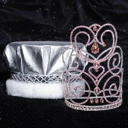 Majestic Tiara and Crown Set - Pink Char/Metallic Crown