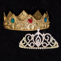 Homecoming Royalty Set - Gold Cameo Perfect Tiara/Charlemagne Crown
