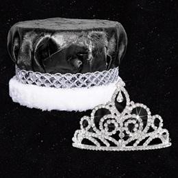 Homecoming Royalty Set - Sutton Tiara/Crushed Satin Crown