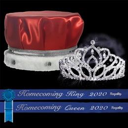 Homecoming 2020 Royalty Set with Sashes and Pins - Mirabella Tiara/Satin Crown