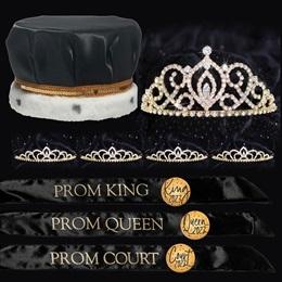 Classic Prom Coronation Set - Black/Gold