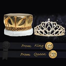 Metallic Prom King and Queen Set - Mirabella Tiara