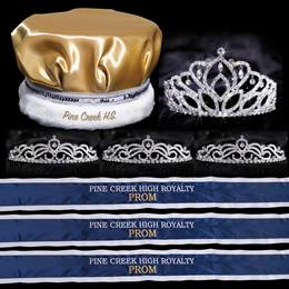 Custom Royalty Court Set - Mirabella Tiara/Satin Crown