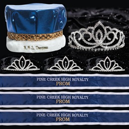 Custom Royalty Court Set - Sasha Tiara/Metallic Crown