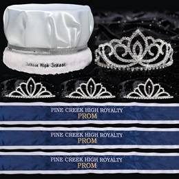 Custom Royalty Court Set - Sasha Tiara/Satin Crown