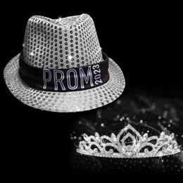 Light-up Prom Fedora and Kiley Tiara Set