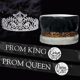Metallic Prom King & Queen Set - Elsa Tiara