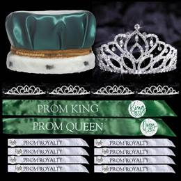 King and Queen Prom Coronation Set with Buttons - Mirabella/Sissy