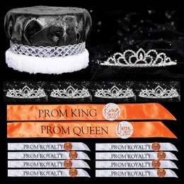 King and Queen Prom Coronation Set with Buttons - Sissy/Kiley