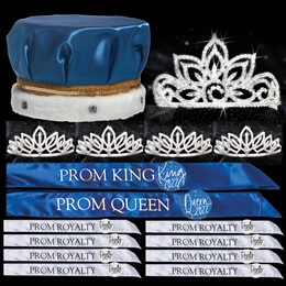 King and Queen Prom Coronation Set with Buttons - Falling Star/Toni