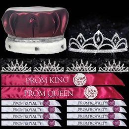 King and Queen Prom Coronation Set with Buttons - Luna/Bobbi