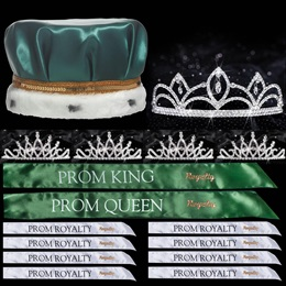 King and Queen Prom Coronation Set with Pins - Luna/Bobbi
