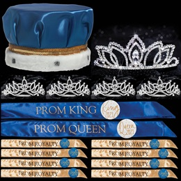 King and Queen Prom Coronation Set with Buttons - Shawnessy/Amara