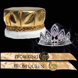 Majestic Prom Set - Metallic Crown/Elizabeth Tiara