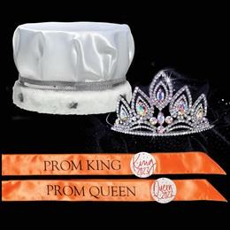Majestic Prom Set - Satin Crown/Elizabeth Tiara