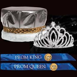 Majestic Prom Set - Metallic Crown/Zahara Tiara