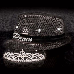 Light-up Fedora and Ruby Tiara Set