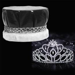 Black Cassandra Tiara and Crown Set