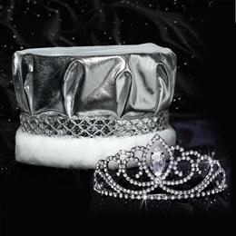 Black Valerie Tiara and Crown Set