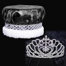 Silver Marissa Tiara and Crown Set