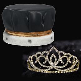 Gold Sasha Tiara and Crown Set