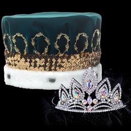 Elizabeth Tiara and Velvet Crown Set