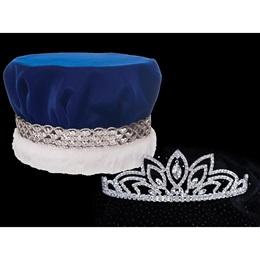 Jemima Tiara and Velvet Crown Set