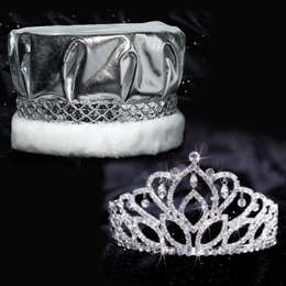 Mirabella Tiara and Crown Set - Silver Metallic