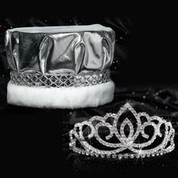 Sasha Tiara and Crown Set - Silver Metallic