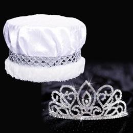 Adele Tiara and Crown Set - Crushed Satin