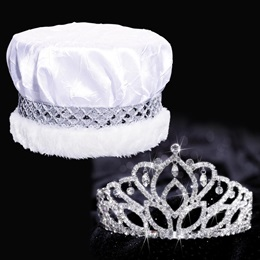 Mirabella Tiara and Crown Set - Crushed Satin
