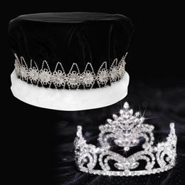 Penelope Tiara and Crown Set - Black Velvet Crown