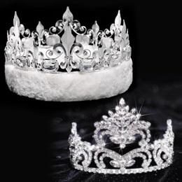 Penelope Tiara and Crown Set - Fleur-de-Lis