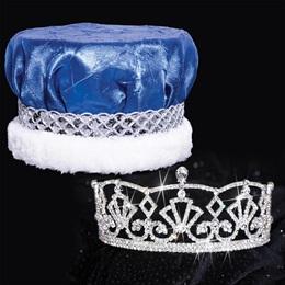 Tiara and Crushed Satin Crown Set - Katelyn Tiara