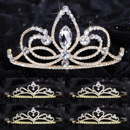 Queen and Court Tiara Set - Ariana and Gold Alisa