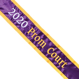 Prom Sash - One Color Edge with Two-toned Text