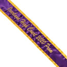 Prom Sash - 3D Text on One Line