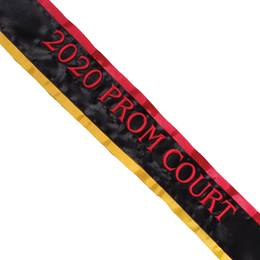 Prom Sash - Two-Color Edges and One Line of Text