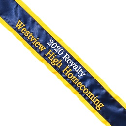 Homecoming Sash - 3D Text in Two Lines and Two Colors