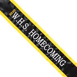 Homecoming Sash - 3D Text with Vertical Year
