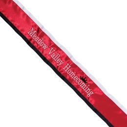 Homecoming Sash - Two-color Edge with Horizontal Crown