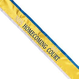 Homecoming Sash - Two-color Edge with Two Tone Text & Year