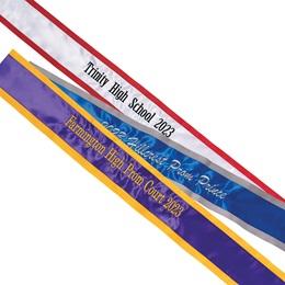 Custom One-color Edge Sash - One Line of Text