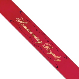 Homecoming Royalty Sash - Red with Two Color Imprint
