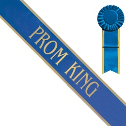 Prom King Sash with Gold Edge