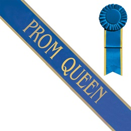 Prom Queen Sash with Gold Edge