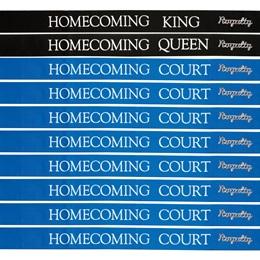 20-piece Homecoming Court Ribbon Sashes and Pin Set