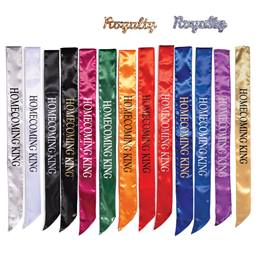 Homecoming King Satin Sash and Royalty Pin Set